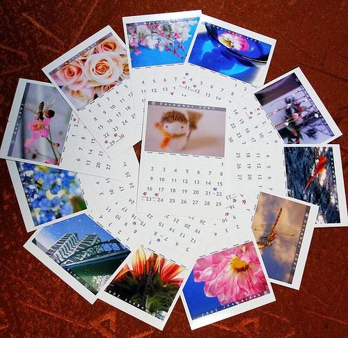Calendar in Circle