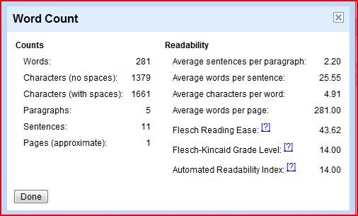 Desired Word Count
