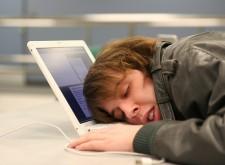 Guy Sleeping On Keyboard